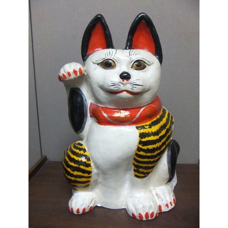特大 坊ノ谷土人形 招き猫
