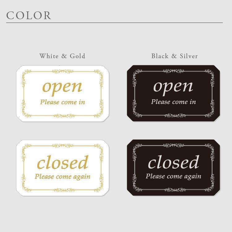オープン クローズ OPEN CLOSED 看板 アクリル製 おしゃれ 立体感 選べる2色 表裏 高級 art-ya 02