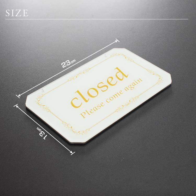 オープン クローズ OPEN CLOSED 看板 アクリル製 おしゃれ 立体感 選べる2色 表裏 高級 art-ya 04