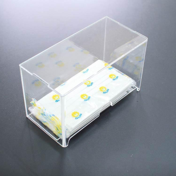 マスクケース アクリル製 透明 選べるデザイン 取り出し口付 ウイルス対策 玄関 洗面所 おしゃれ かわいい|art-ya|07