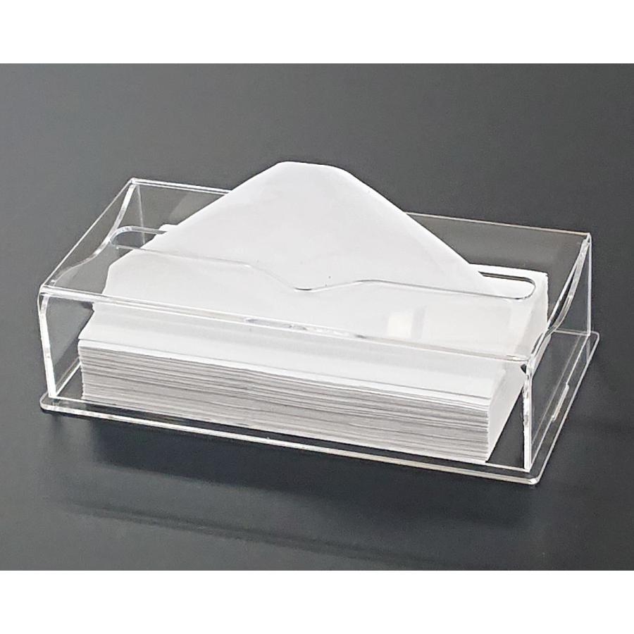 アクリル製 ペーパー タオル ホルダー BOX 透明 シンプル おしゃれ トイレ キッチン 洗面 台所 収納 衛生 art-ya