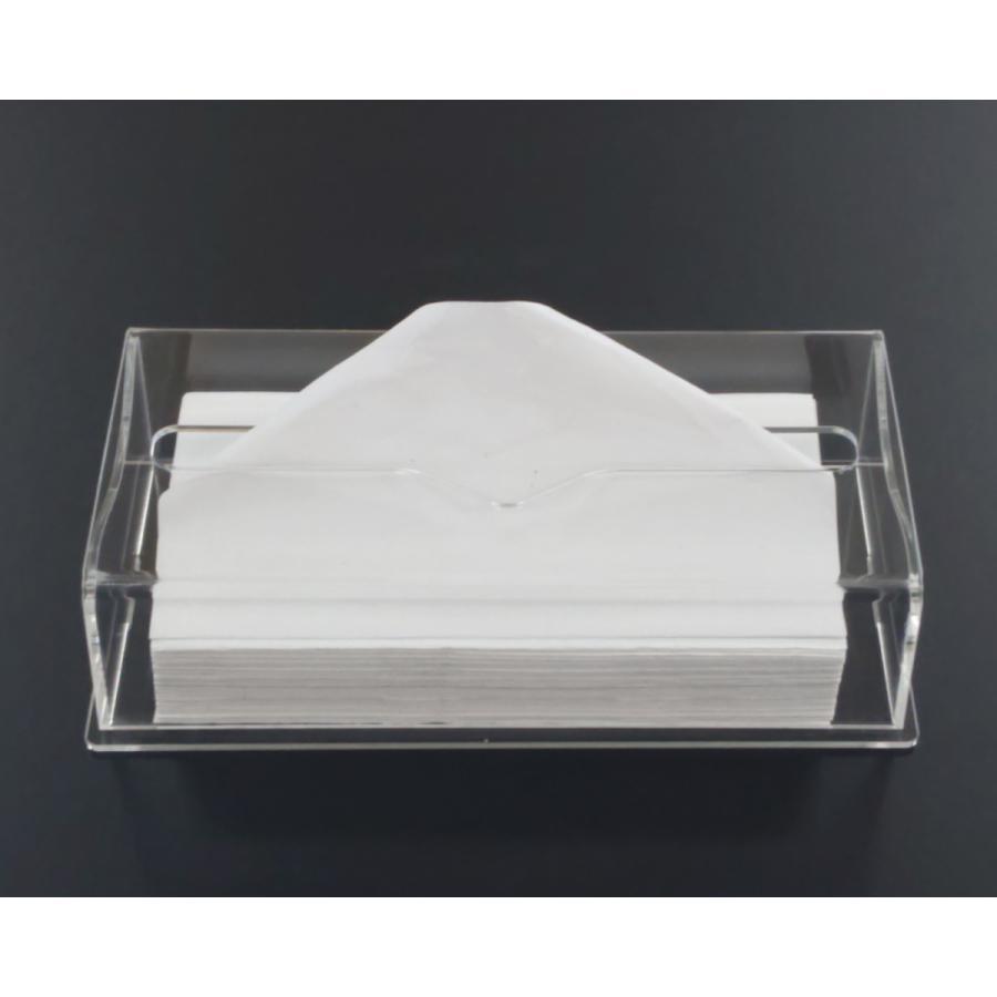 アクリル製 ペーパー タオル ホルダー BOX 透明 シンプル おしゃれ トイレ キッチン 洗面 台所 収納 衛生 art-ya 02