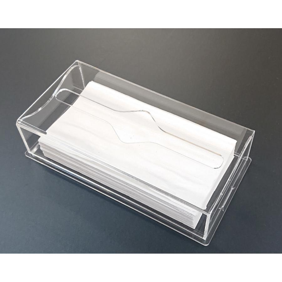 アクリル製 ペーパー タオル ホルダー BOX 透明 シンプル おしゃれ トイレ キッチン 洗面 台所 収納 衛生 art-ya 03
