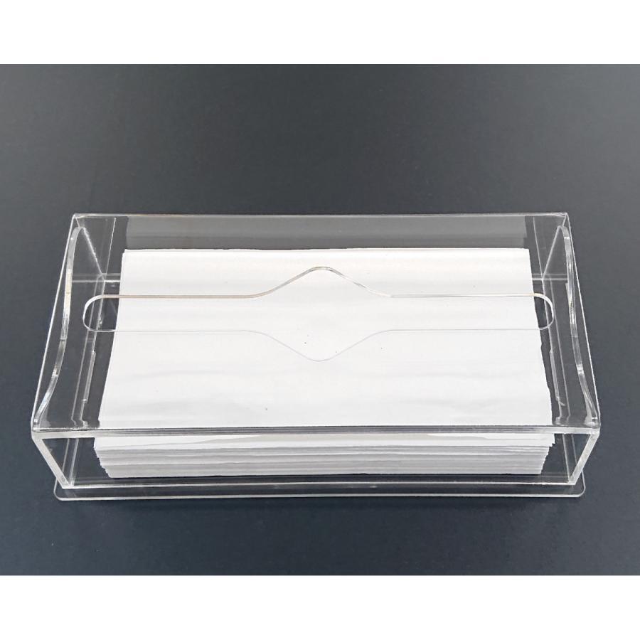 アクリル製 ペーパー タオル ホルダー BOX 透明 シンプル おしゃれ トイレ キッチン 洗面 台所 収納 衛生 art-ya 04