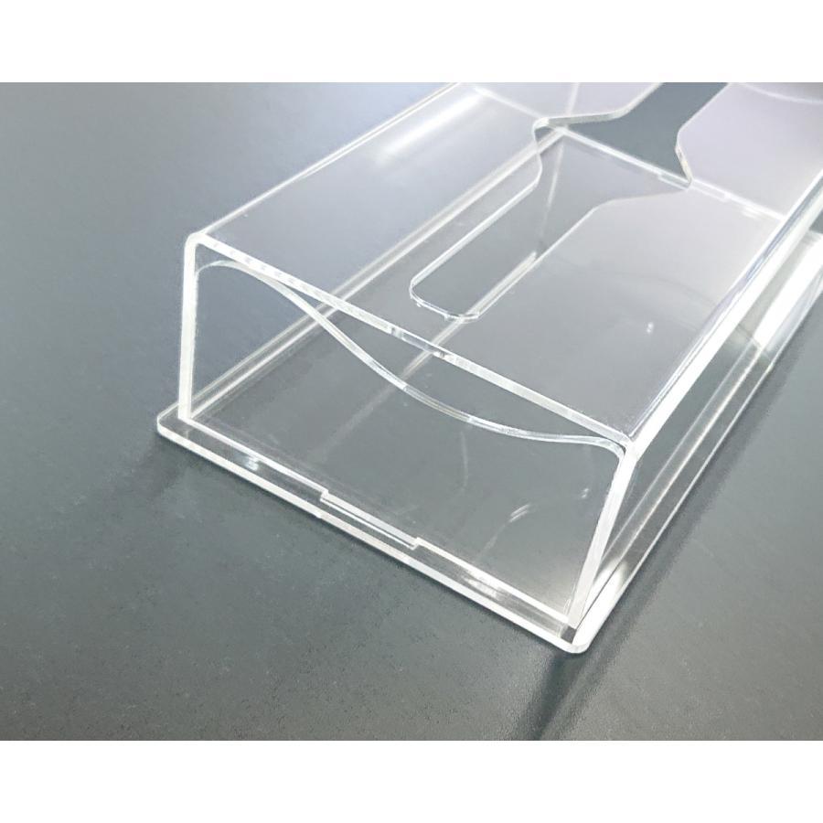アクリル製 ペーパー タオル ホルダー BOX 透明 シンプル おしゃれ トイレ キッチン 洗面 台所 収納 衛生 art-ya 07