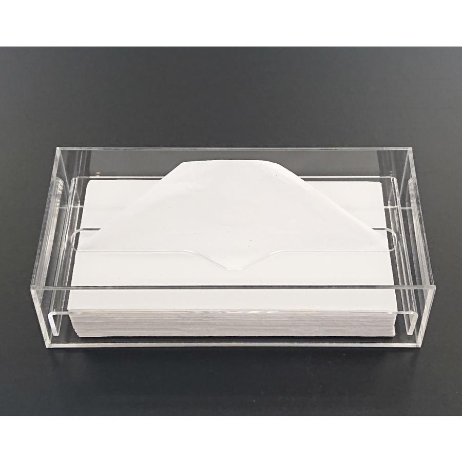 アクリル製 ペーパー タオル ホルダー BOX 透明 シンプル おしゃれ トイレ キッチン 洗面 台所 収納 衛生|art-ya|02