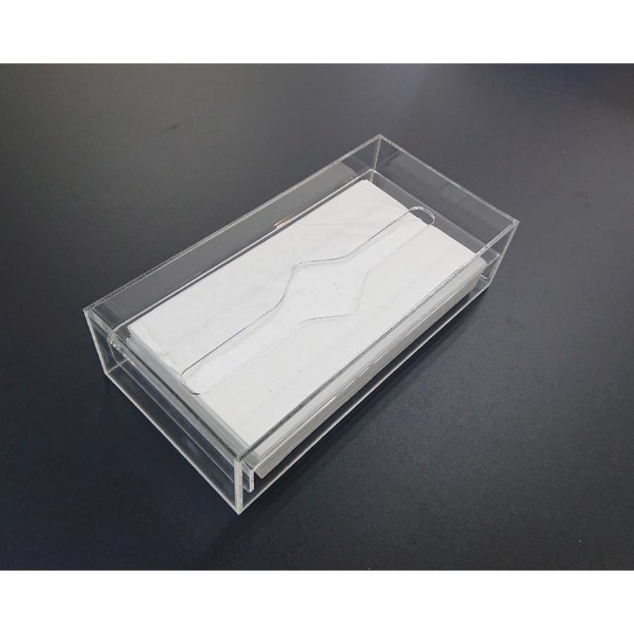 アクリル製 ペーパー タオル ホルダー BOX 透明 シンプル おしゃれ トイレ キッチン 洗面 台所 収納 衛生|art-ya|03