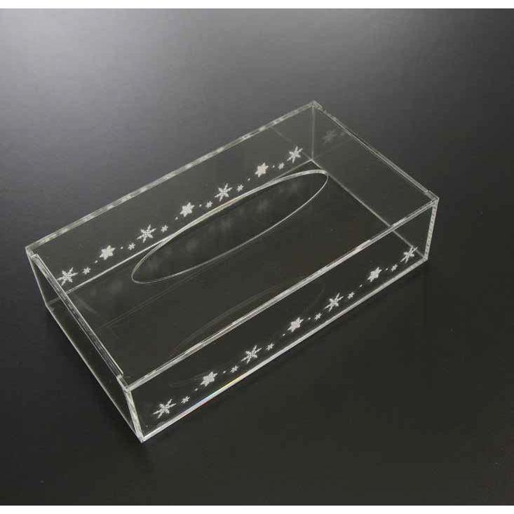 アクリル ティッシュケース デザイン 彫刻入り 透明|art-ya|02