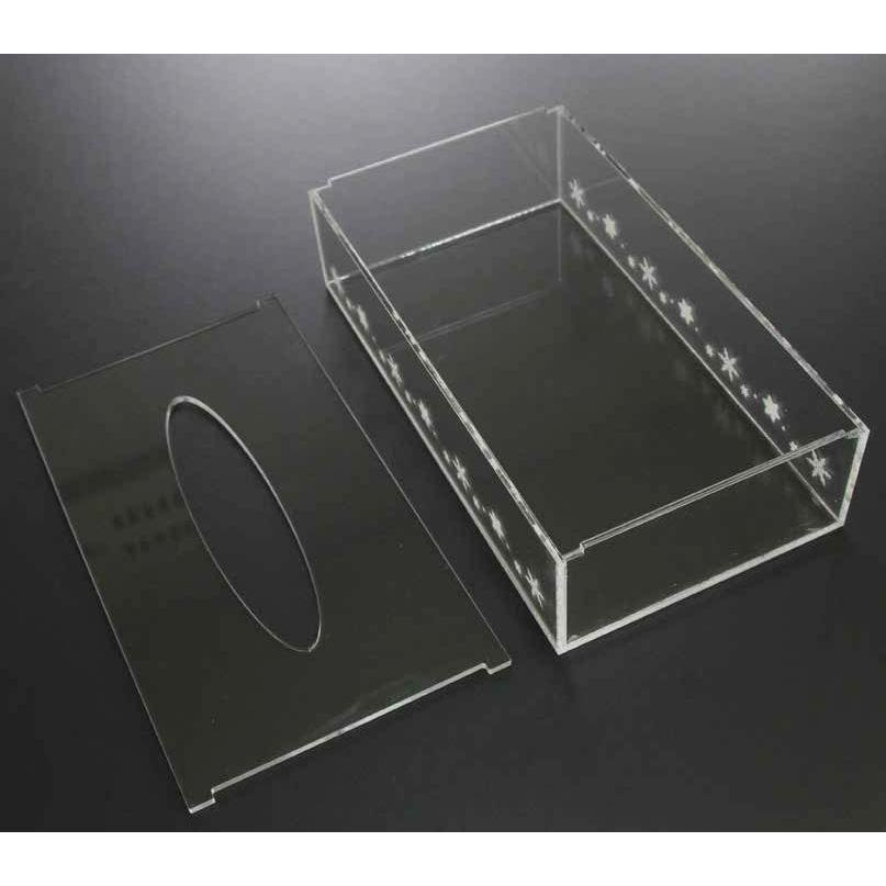 アクリル ティッシュケース デザイン 彫刻入り 透明|art-ya|03