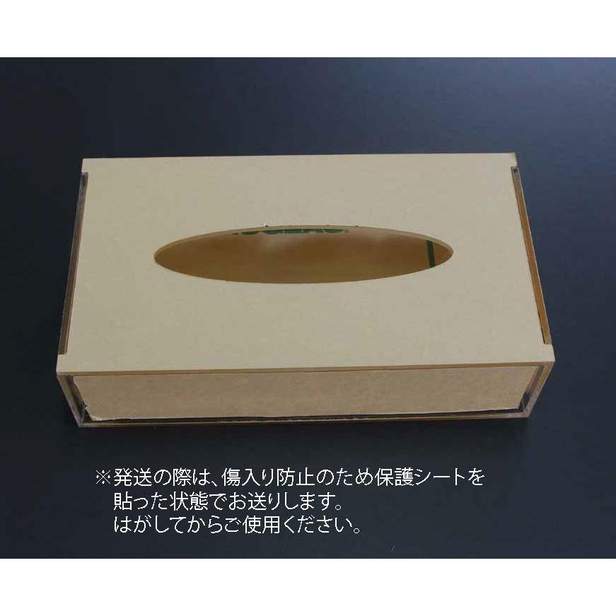 アクリル ティッシュケース デザイン 彫刻入り 透明|art-ya|05