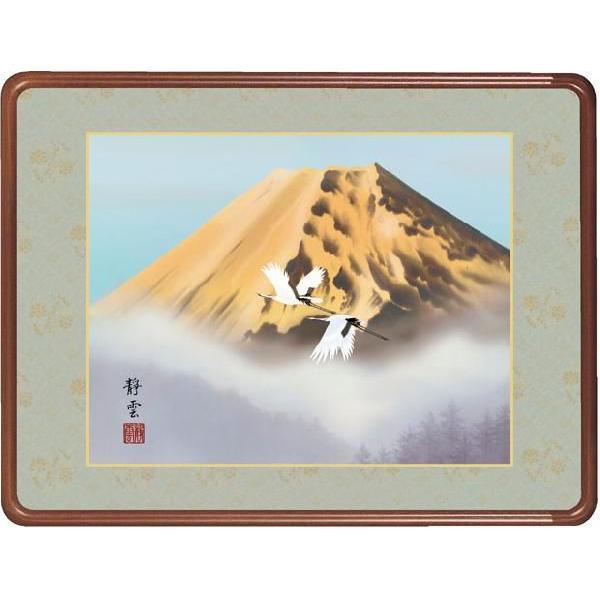 絵画 日本画 黄金富士・佐藤静雲 和装額 和額 和室インテリア|art1