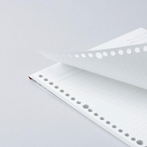 ルーズリーフ 書きやすいルーズリーフパッド A5 20穴 筆記用紙80g/m2 25行 メモリ入7mm罫 50枚 L1300P マルマン (DM便 ネコポス2点まで)|artandpaperm|02