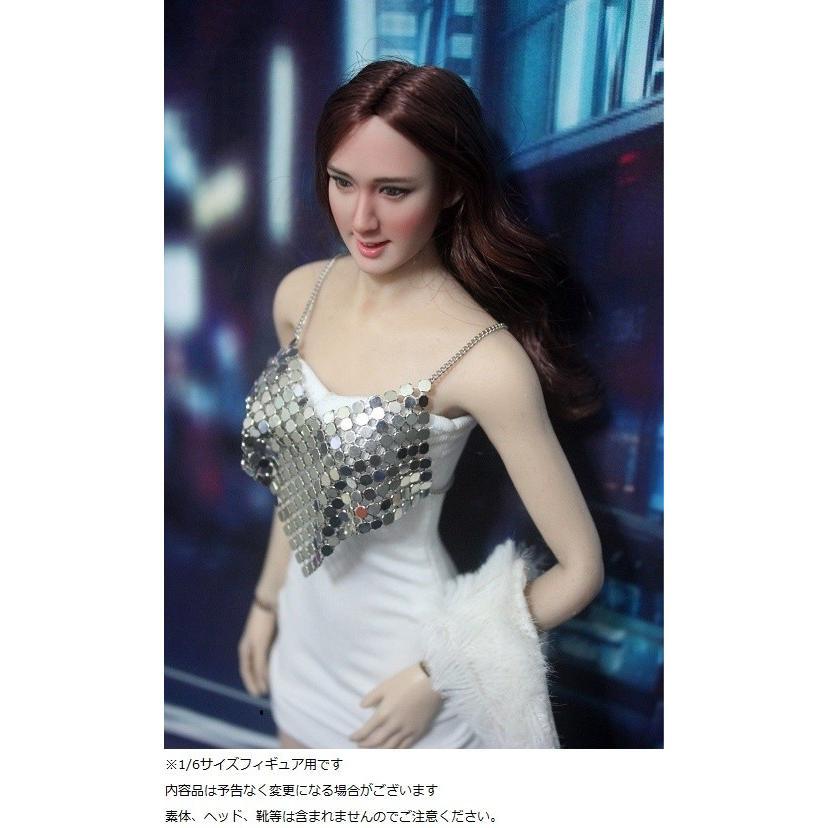 ドールズフィギュア FT166 1/6フィギュア用衣装 女性用 メタリックブラ&ワンピースセット (DOLLSFIGURE FT166)|artcreator-bm-2|03