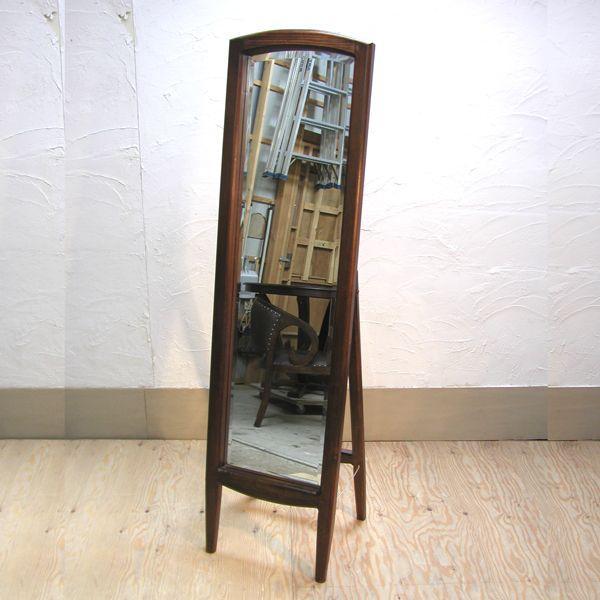 スタンドミラー Dressing Mirror 姿見 鏡 おしゃれ スマート 天然木 チーク無垢材 インドネシア直輸入|artcrew