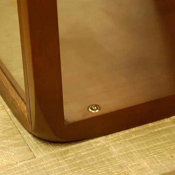 キューブガラスケース コレクションケース サイコロ家具 サイドテーブル チーク無垢材 天然木 ディスプレイケース オリジナル家具 インドネシア直輸入|artcrew|06