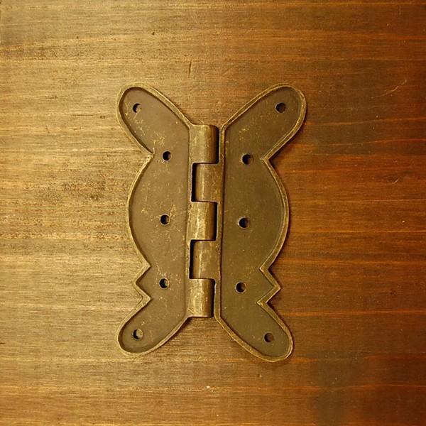 ブラス蝶番170 ヒンジ 真鍮 インドネシア直輸入 インテリアパーツ 古色仕上げ 家具修理 DIY 家具部品 おしゃれ プロ仕様|artcrew|04