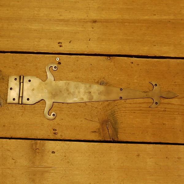 ブラス蝶番225 丁番 大型 扉金具 真鍮 インドネシア直輸入 インテリアパーツ 古色仕上げ DIY リフォーム 店づくり 建具 artcrew