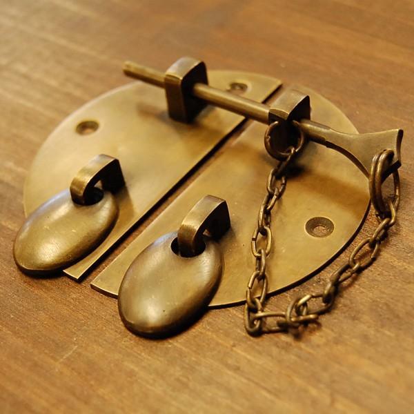 ブラス錠前347 真鍮金具 扉金具 家具部品 修理 DIY インドネシア直輸入 インテリアパーツ アンティーク仕上げ 古色仕上げ artcrew 02