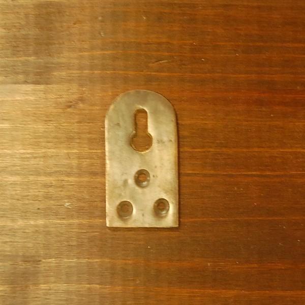 ブラスパーツ404 真鍮吊金具 インドネシア直輸入 インテリアパーツ 古色仕上げ アンティーク仕上げ 修理部品 金具|artcrew