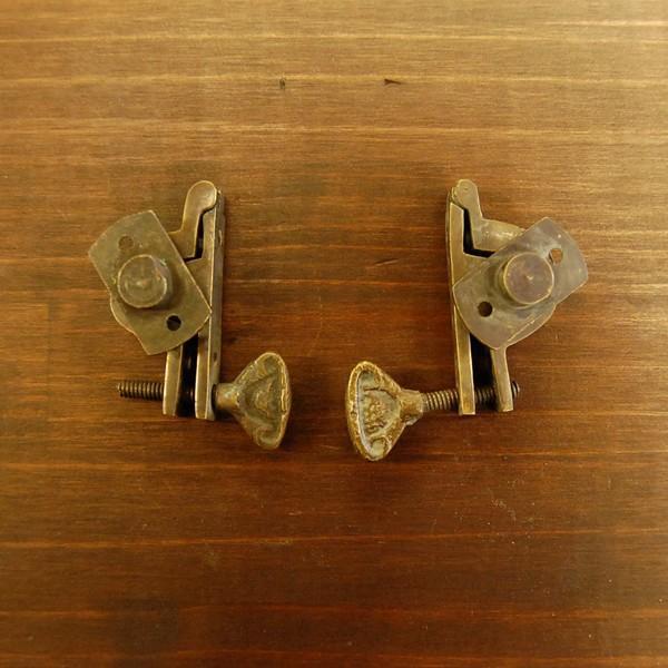 ブラス463 回転止め金具 真鍮金具 インドネシア直輸入 インテリアパーツ 古色仕上げ DIY おしゃれ アンティーク仕上げ artcrew 03
