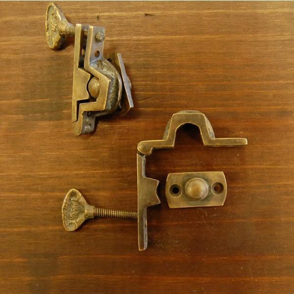 ブラス463 回転止め金具 真鍮金具 インドネシア直輸入 インテリアパーツ 古色仕上げ DIY おしゃれ アンティーク仕上げ artcrew 06