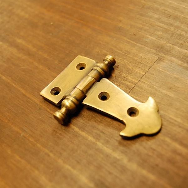 ブラス蝶番 ヒンジ 真鍮 インドネシア直輸入 インテリアパーツ 古色仕上げ DIY 店づくり 住まいづくり 家具部品 真鍮部品 artcrew 02