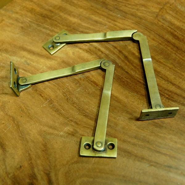 ブラスヒンジ479 蝶番 真鍮 家具部品 DIY 修理 加工 インドネシア直輸入 インテリアパーツ アンティーク仕上げ 古色仕上げ artcrew 02