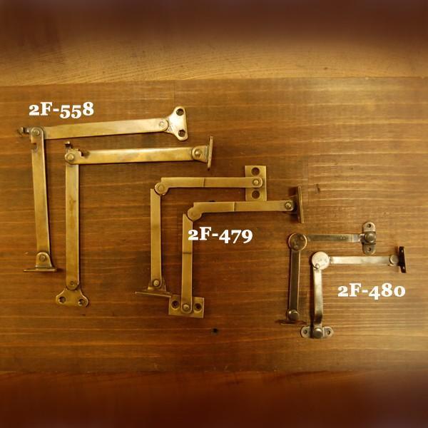 ブラスヒンジ479 蝶番 真鍮 家具部品 DIY 修理 加工 インドネシア直輸入 インテリアパーツ アンティーク仕上げ 古色仕上げ artcrew 05
