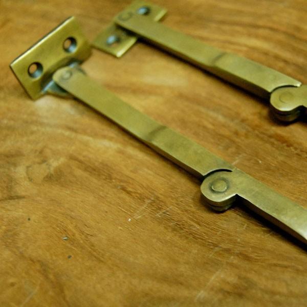 ブラスヒンジ479 蝶番 真鍮 家具部品 DIY 修理 加工 インドネシア直輸入 インテリアパーツ アンティーク仕上げ 古色仕上げ artcrew 07