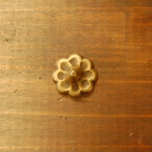 ブラスピン533 真鍮鋲 インドネシア直輸入 インテリアパーツ 古色仕上げ 飾り鋲  アンティーク仕上げ 家具部品 家具修理 家具づくり artcrew