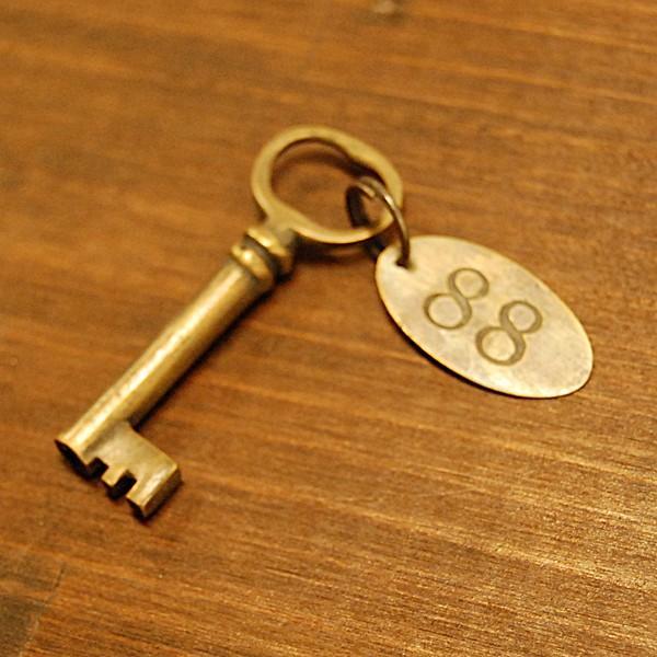 ブラス鍵539 真鍮金具 家具部品 鍵部品 アンティーク仕上げ DIY 日曜大工 引き出し部品 インドネシア直輸入 インテリアパーツ 古色仕上げ artcrew 02