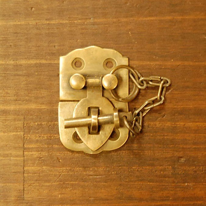 ブラス錠前545 真鍮金具 家具部品 鍵部品 アンティーク仕上げ DIY 日曜大工 引き出し部品 インドネシア直輸入 インテリアパーツ 古色仕上げ|artcrew