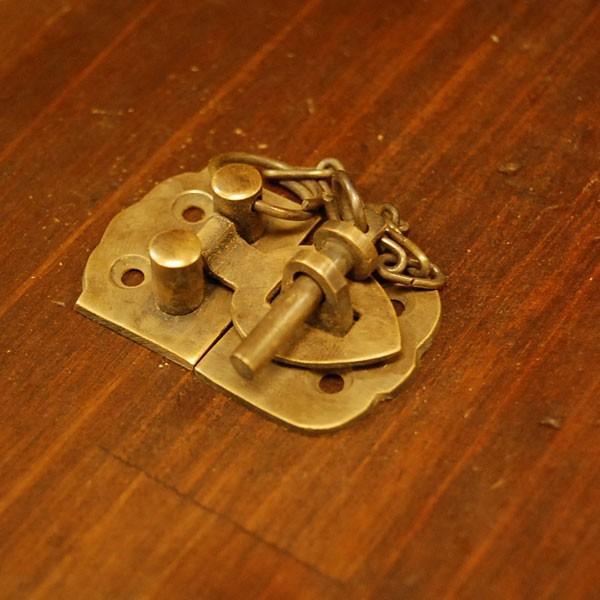 ブラス錠前545 真鍮金具 家具部品 鍵部品 アンティーク仕上げ DIY 日曜大工 引き出し部品 インドネシア直輸入 インテリアパーツ 古色仕上げ|artcrew|04