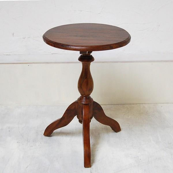 サイドテーブル USED ラウンドテーブル 丸テーブル シンプルラウンドテーブルS カフェテーブル 壺台 花台 チーク材 無垢材家具 インドネシア直輸入 artcrew