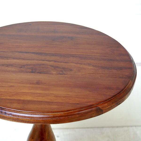 サイドテーブル USED ラウンドテーブル 丸テーブル シンプルラウンドテーブルS カフェテーブル 壺台 花台 チーク材 無垢材家具 インドネシア直輸入 artcrew 02