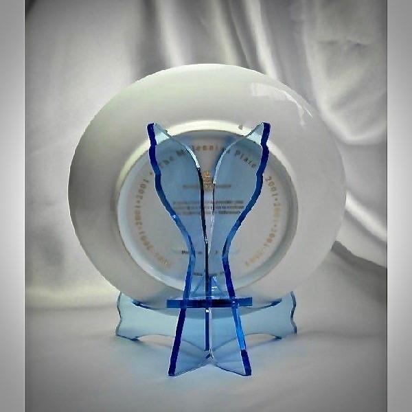 天使のお皿立て AP-1522-Br (皿たて・ガラス色透明ブルー)|artesse-store|05