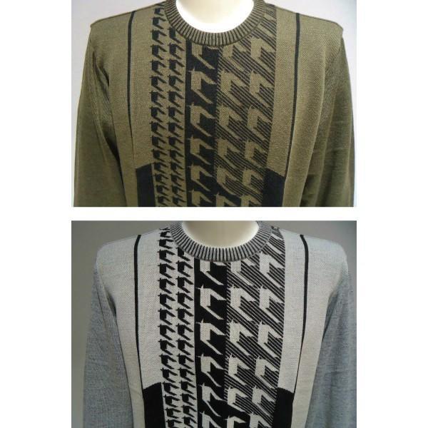 barassi /秋冬/30%OFF/デザイン セーター/52 (3L) 別注サイズ/ホワイト・ブラウン/日本製/大きいサイズ/現品限り|artigiano-uomo|03