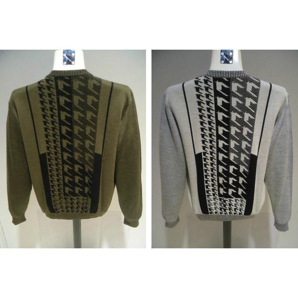 barassi /秋冬/30%OFF/デザイン セーター/52 (3L) 別注サイズ/ホワイト・ブラウン/日本製/大きいサイズ/現品限り|artigiano-uomo|05