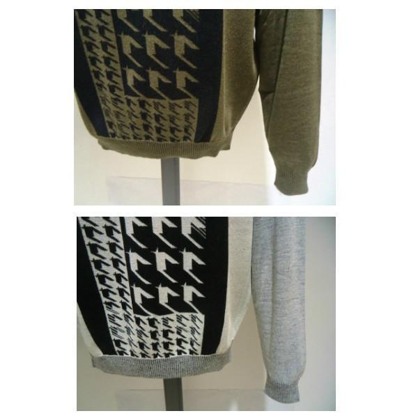 barassi /秋冬/30%OFF/デザイン セーター/52 (3L) 別注サイズ/ホワイト・ブラウン/日本製/大きいサイズ/現品限り|artigiano-uomo|06
