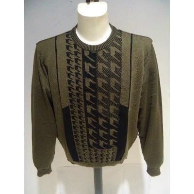 barassi /秋冬/30%OFF/デザイン セーター/52 (3L) 別注サイズ/ホワイト・ブラウン/日本製/大きいサイズ/現品限り|artigiano-uomo|08