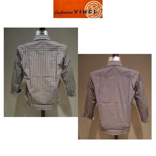 VINCI<ビンチ>21新/春夏/50%OFF/デザイン ボタンダウンシャツ/50・48・46 サイズ/ブルー・ブラック/綿100%/切り替えしデザイン/人気モデル|artigiano-uomo|04