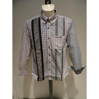 VINCI<ビンチ>21新/春夏/50%OFF/デザイン ボタンダウンシャツ/50・48・46 サイズ/ブルー・ブラック/綿100%/切り替えしデザイン/人気モデル|artigiano-uomo|06