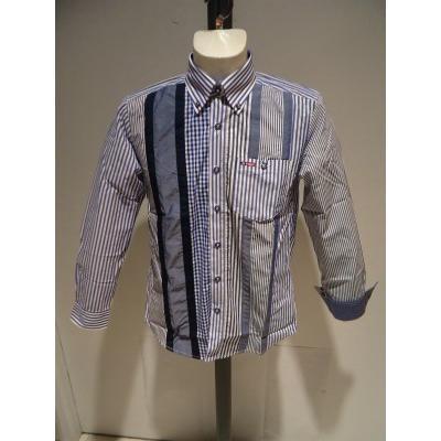 VINCI<ビンチ>21新/春夏/50%OFF/デザイン ボタンダウンシャツ/50・48・46 サイズ/ブルー・ブラック/綿100%/切り替えしデザイン/人気モデル|artigiano-uomo|07