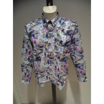 PAGELO/春夏/21新/50%OFF/アートプリント シャツ/ LL・L・M /ブルー・グレー/大きいサイズ/日本製/綿100%/ボタンダウンシャツ|artigiano-uomo|06