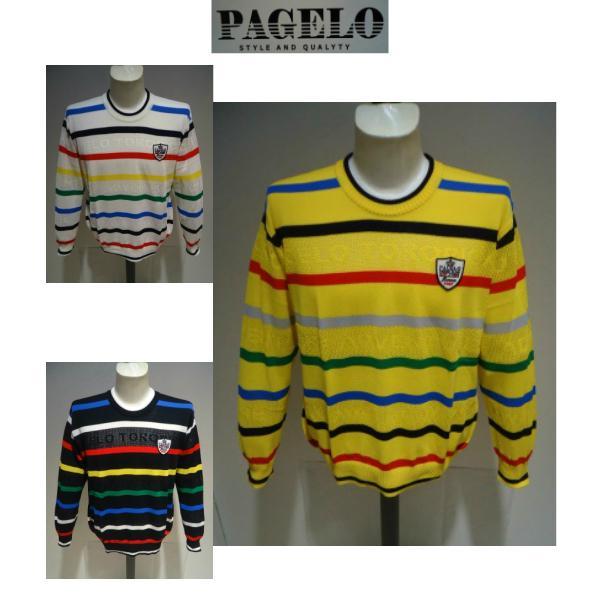 PAGELO<パジェロ>春夏/21新/50%OFF/デザイン セーター /3L サイズ(オリジナル)白・黒・イエロー /日本製/大きいサイズ/サマーセーター/現品限り|artigiano-uomo|06