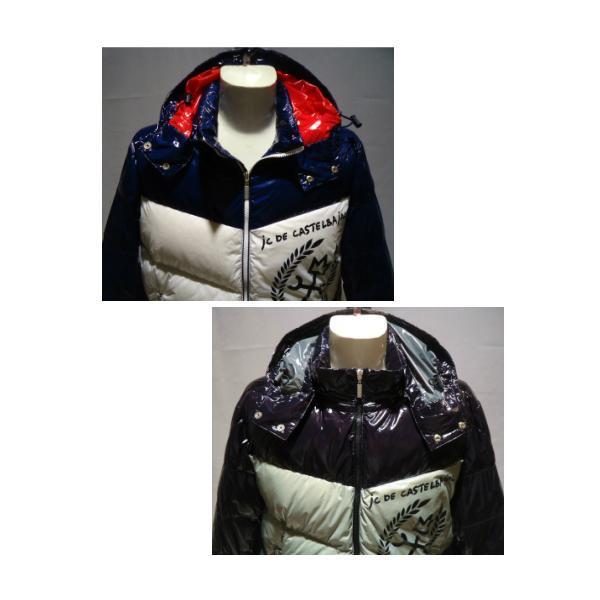 CASTEL BAJAC /秋冬/21新/30%OFF/フード ダウンブルゾン/46・48・50 サイズ/ブラック・ホワイト/光沢感素材/人気モデル artigiano-uomo 02