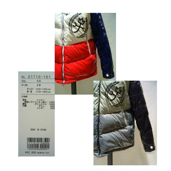CASTEL BAJAC /秋冬/21新/30%OFF/フード ダウンブルゾン/46・48・50 サイズ/ブラック・ホワイト/光沢感素材/人気モデル artigiano-uomo 05