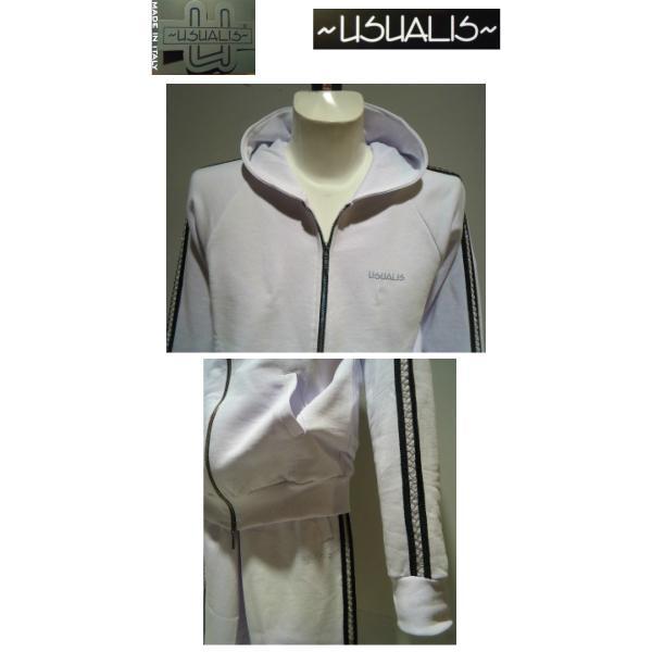 USUALIS<ウザリス>25%OFF/パーカートップス&パンツ/XL(2L) サイズ/ホワイト/イタリア製/大きいサイズ/ALLシーズン/綿100%/現品限り artigiano-uomo 02