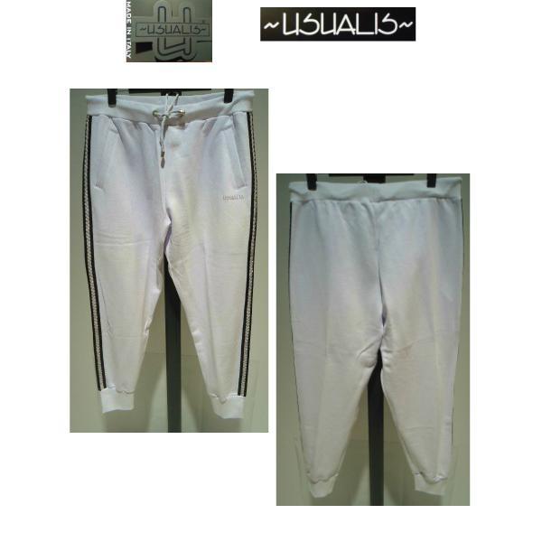 USUALIS<ウザリス>25%OFF/パーカートップス&パンツ/XL(2L) サイズ/ホワイト/イタリア製/大きいサイズ/ALLシーズン/綿100%/現品限り artigiano-uomo 05