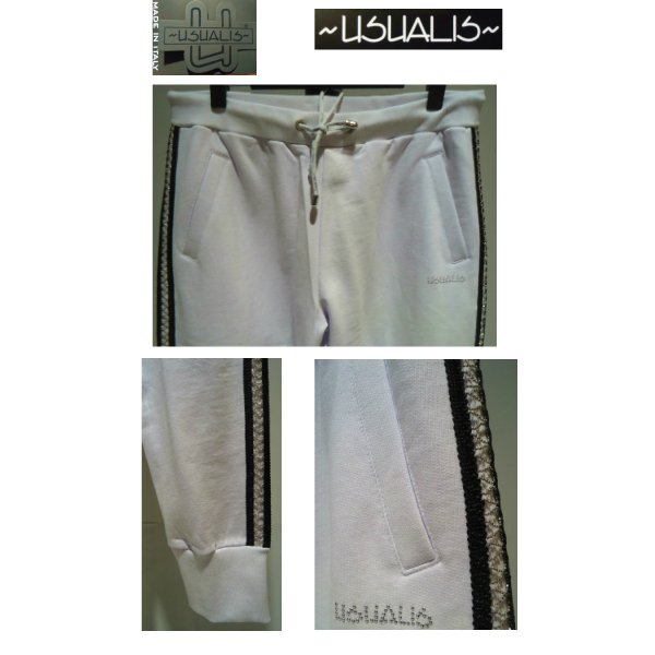 USUALIS<ウザリス>25%OFF/パーカートップス&パンツ/XL(2L) サイズ/ホワイト/イタリア製/大きいサイズ/ALLシーズン/綿100%/現品限り artigiano-uomo 06